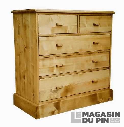 commode en pin massif 2 3 tiroirs chamonix le magasin du pin. Black Bedroom Furniture Sets. Home Design Ideas