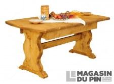 Table monastère avec allonges Chamonix