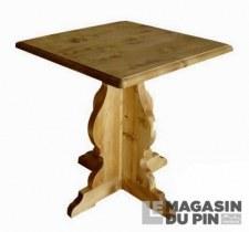 Table monastère carrée Chamonix