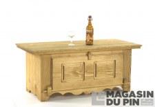 Table basse bar 1 porte rabattable Chamonix
