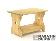 Table basse 70cm 2 cœurs Chamonix