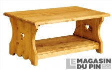 Table basse 100cm 2 cœurs Chamonix
