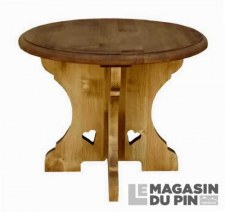 Table basse ronde Chamonix
