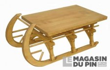 Table basse luge PM Chamonix