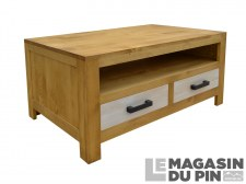 Table basse Cardiff 2 tiroirs