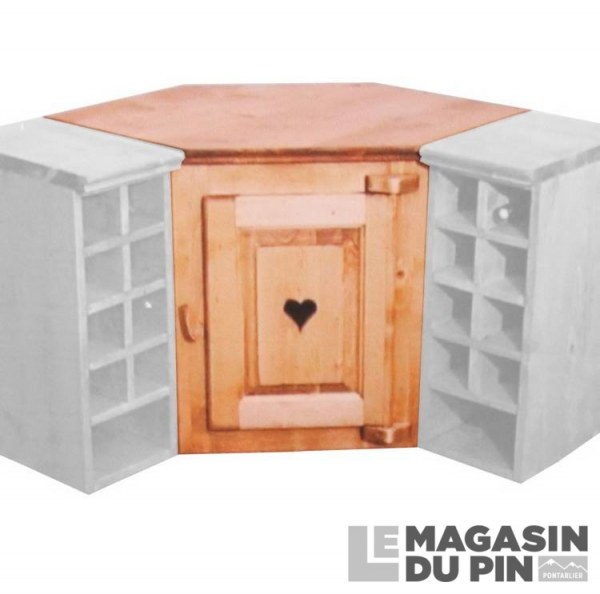 meuble haut d 39 angle 1 porte cuisine chamonix en pin massif le magasin. Black Bedroom Furniture Sets. Home Design Ideas