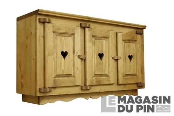 Meuble Haut 3 Portes Cuisine Chamonix En Pin Massif Le Magasin Du