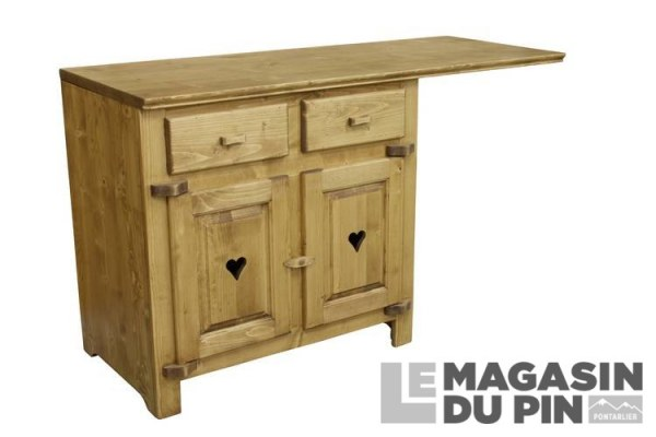 meuble bas sous vier 2 portes cuisine chamonix en pin massif le magasin. Black Bedroom Furniture Sets. Home Design Ideas