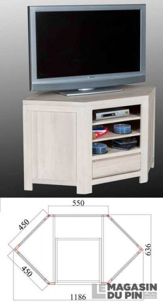 Meuble TV d'angle Cap-Coz