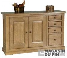 Bahut 2 portes 4 tiroirs Loire