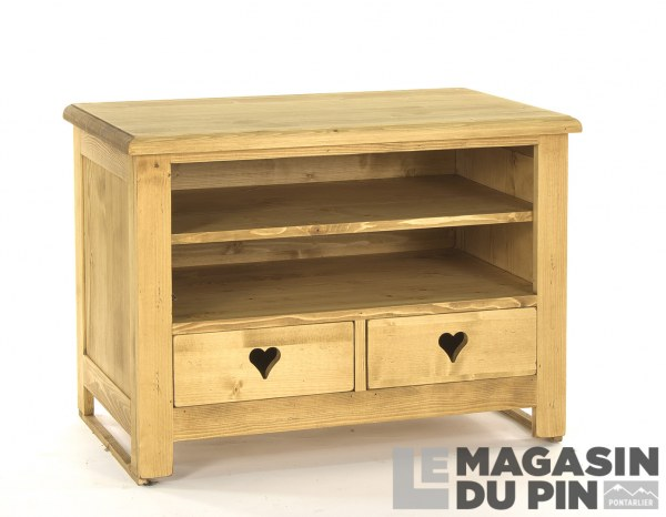 Meuble TV 2 tiroirs Megève