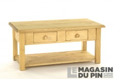 Table basse 2 tiroirs Megève
