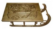 Table basse luge sculptée Village
