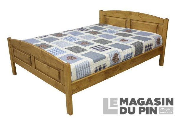 lit double pin massif 140x190 cm transilvania le magasin du pin. Black Bedroom Furniture Sets. Home Design Ideas