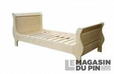 Lit double Louis-Philippe 160x200cm