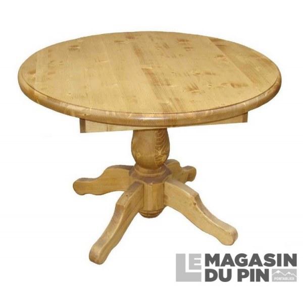 table repas ronde pin massif pied central 110 cm transilvania le magasin. Black Bedroom Furniture Sets. Home Design Ideas