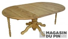Table ronde 2 allonges Transilvania