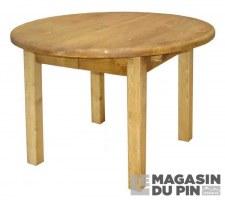 Table ronde pieds carrés Transilvania