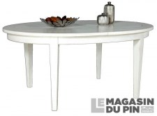 Table ovale avec allonges