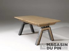 Table rectangulaire extensible Havane