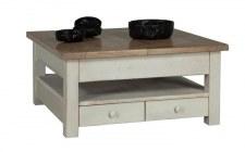 Table basse carrée + allonge
