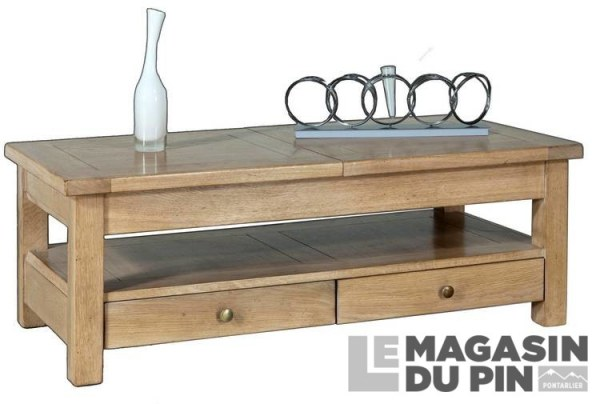 Table basse rectangulaire 120cm