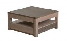Table basse carrée + allonge - 1 tiroir