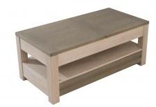 Table basse + allonge - 1 tiroir