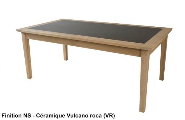 Table repas 1,8m + allonges céramique