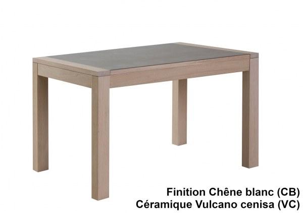 Table repas 1,2m céramique + allonge