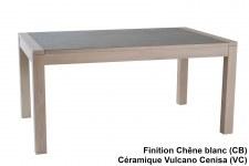 Table repas 1,6m céramique + allonges