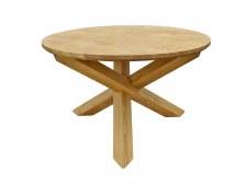 Table repas ronde Ø125 pieds croix