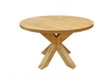 Table repas ronde Ø120 4 pieds croix