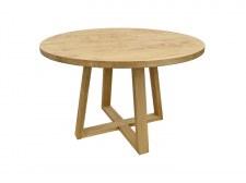 Table repas ronde Ø120 2 pieds U en croix