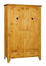 Armoire 2 portes motifs cœur
