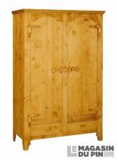 Armoire 2 portes charnières bois