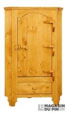 Armoirette d'angle 1 porte charnières bois