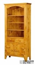 Bibliothèque 2 portes charnières bois