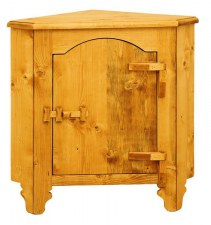 Bahut d'angle 1P charnières bois Tradition
