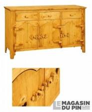 Bahut 3 portes charnières bois Tradition