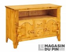 Meuble TV 2 portes charnières bois