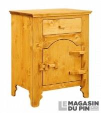 Confiturier 1 porte charnières bois Tradition