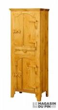 Bonnetière 2 portes charnières bois Tradition