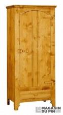 Bonnetière 1 porte charnières bois