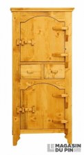 Bonnetière 2 portes charnières bois