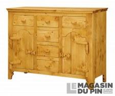 Bahut 2 portes charnières bois Tradition