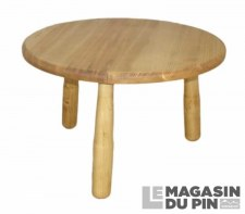Table basse ronde diamètre 60 cm