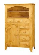 Bahut 1 porte charnières bois Tradition