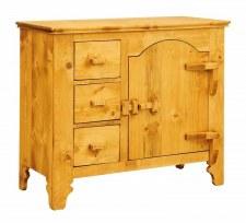 Bahut 1 porte charnières bois