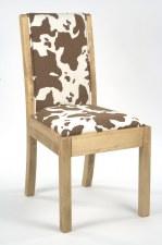 Chaise repas tissu vache